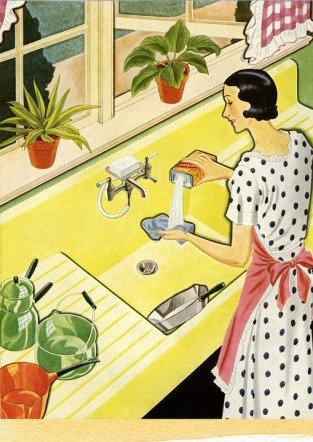 retro cleaning lady